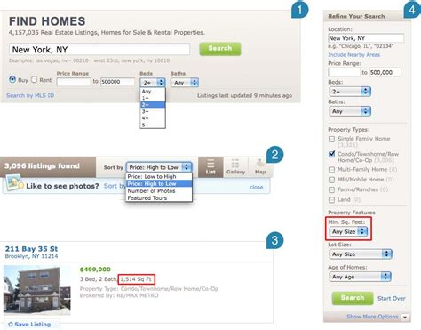 Nyc Records Real Estate Volkside Size Matters Searching Residential Real Estate By Floor Area