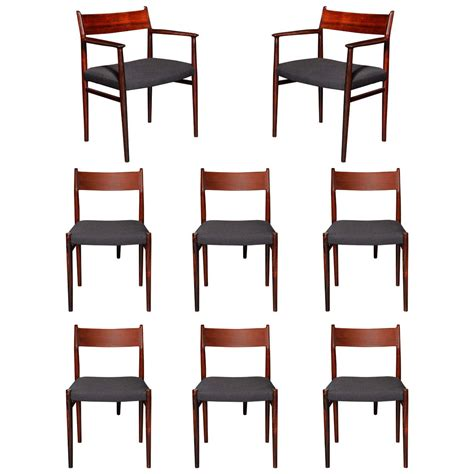 rosewood dining room furniture arne vodder rosewood dining room chairs at 1stdibs
