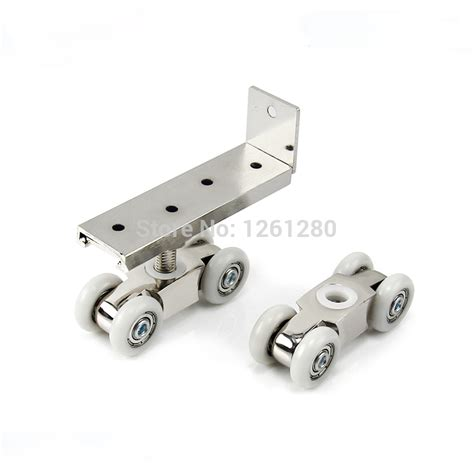 Sliding Glass Door Tracks And Rollers Free Shipping Door Roller Side Mounted Sliding Door Crane Pulley Wooden Door Track Slide Pulley