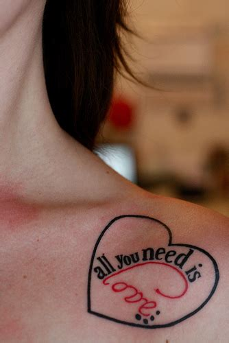 all you need is love tattoo design beatles is all you need my quot all you ne