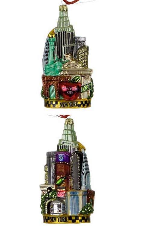 new york city christmas ornament city