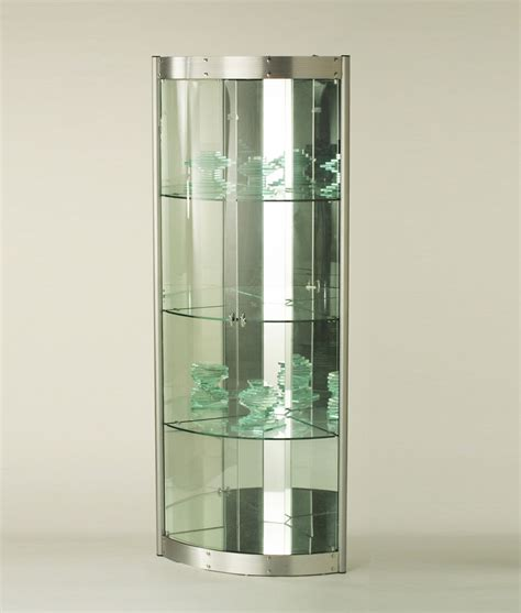 Modern Corner Curio Cabinet by Chintaly Imports Corner Curio With Mirrored