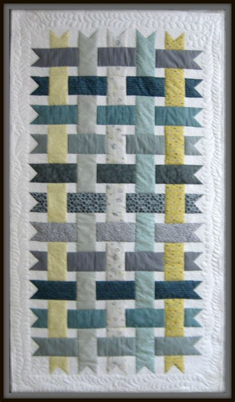 Ribbon Quilts by Quilts Woven Ribbons Quilt