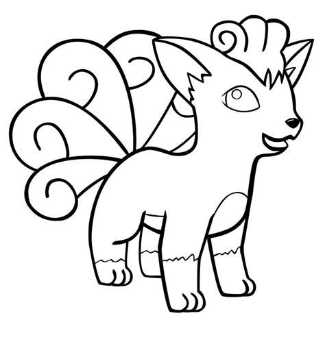 pokemon coloring pages of vulpix vulpix outline by lele37 on deviantart