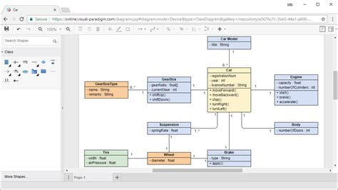 class diagram uml tool diagramming tool