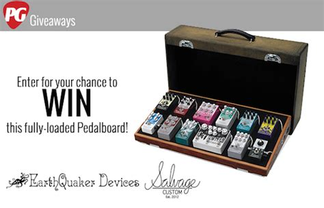 Guitar Giveaway 2014 - win a fully loaded pedalboard