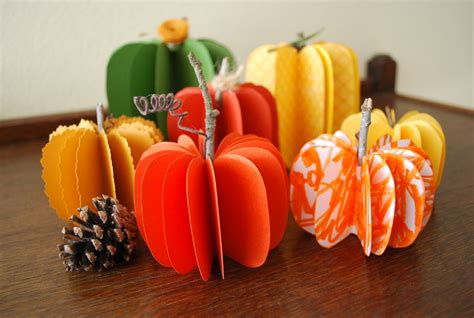 Paper Pumpkins - decorative paper pumpkins easy fall decorations