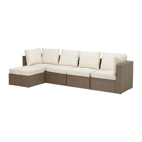 Ikea Sectional Sofas Arholma 4 Seat Sectional Footstool Outdoor Ikea
