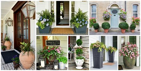 front door flower pots   good  impression