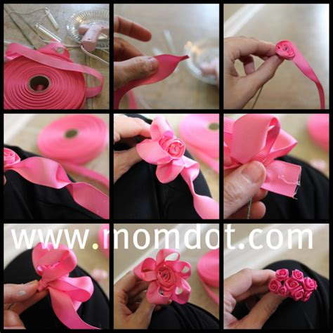 How To Make Paper Ribbon Flowers - how to make a ribbon rosette tutorial ribbon rosettes