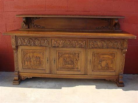 antike kredenz vintage furniture carved oak sideboard server