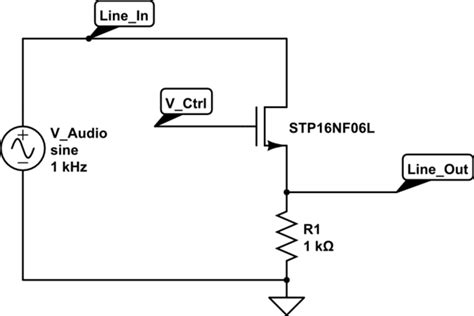 transistor fet como switch switches mosfets or bjts for using as switch for audio signals electrical engineering stack