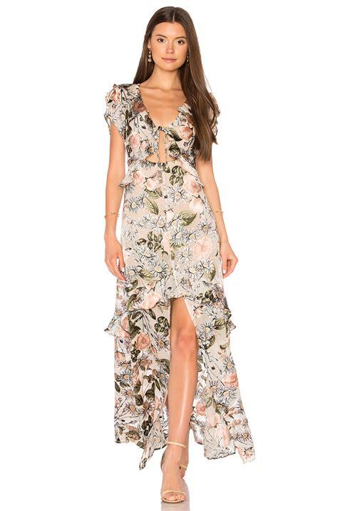 Luqiana Maxi by For Lemons Luciana Maxi Dress Ivory Floral Modesens