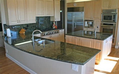 Kitchens With Green Countertops by Home Design Bakero Surf Green Granite Bathroom Countertop