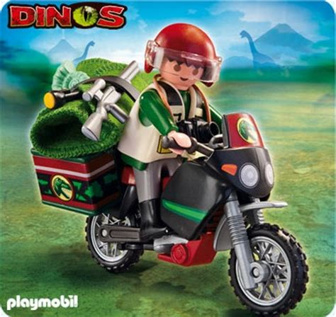 Dino Ori Lego By Bricktalk 5237 explorateur et moto de playmobil
