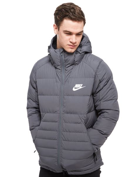 Padded Hooded Jacket nike padded hooded jacket in gray for lyst