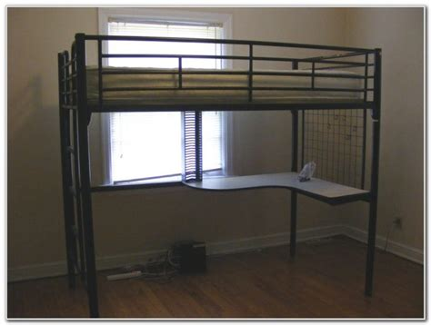 metal loft bed with desk underneath uncategorized