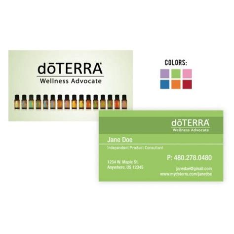 doterra business card template 17 best images about doterra business on