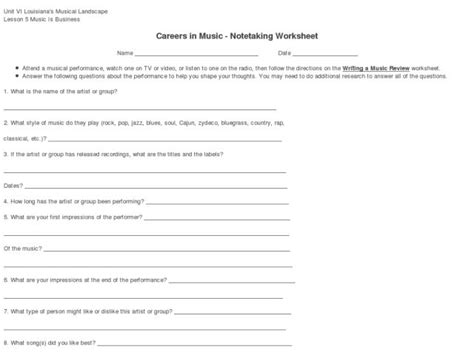 Note Taking Worksheet Energy Answers by 28 Note Taking Worksheet Electricity Answers