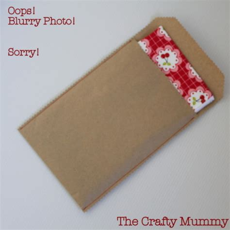 How To Fold An Envelope The Crafty Mummy - sew a brown paper envelope the crafty mummy