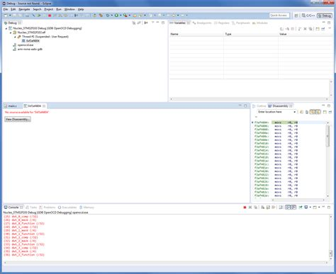 dramanice no source available stm32 debugger meldet no source available