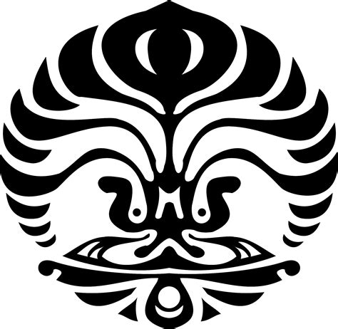 hd makara ui png logo ui hitam putih