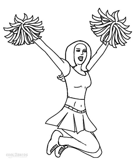 free coloring pages of pom poms and megaphone