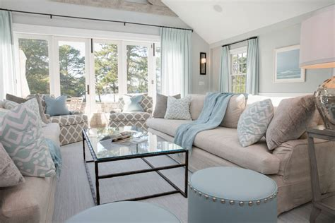 living room retreat with a coastal feel in this living beachy living room makes feel room like being on beach