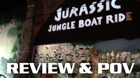jurassic jungle boat ride reviews jurassic jungle boat ride pov and review pigeon forge tn