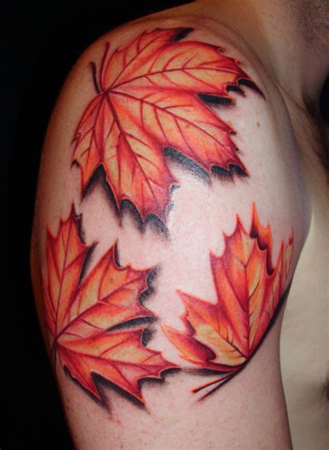 fall leaf tattoo autumn leaves s piercings