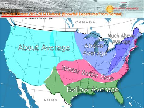 2014 2015 winter weather forecast map u s old farmer usa winter weather forecast for 2014 from weatheradvance