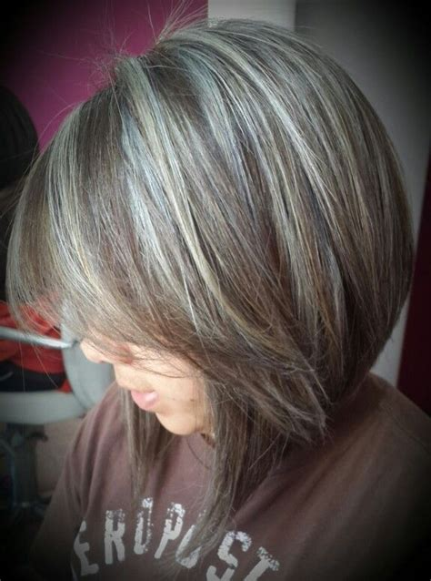 hairstyles to hide gray hair best highlights to cover gray hair wow com image
