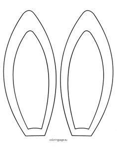 bunny ears headband template plantilla de las orejas de conejos fieltro