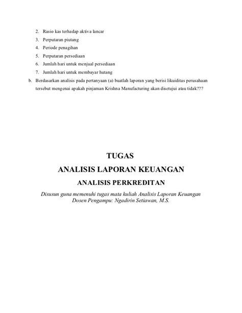 Analisis Laporan Keuangan E11 1 Subramanyam analisis perkreditan