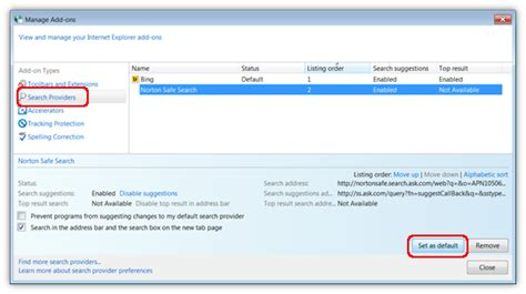 norton resetting home page configure norton safe search as your default search