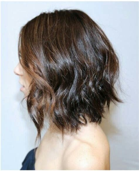 asymmetrical bob with a wave line across the front and one long bob hairstyles pinterest long bob bobs and