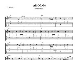 John legend all of me piano sheet music