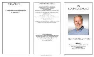 funeral program templates trifold plain template