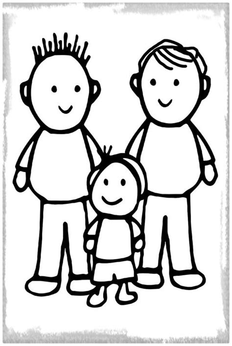 imagenes de la familia para iluminar imagenes de tipos de familia para colorear imagenes de