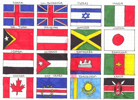 flags of the world to draw flags of the world 5 by zerawolf on deviantart
