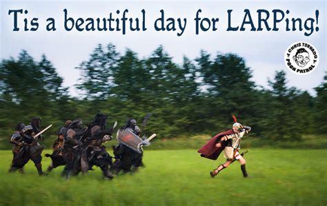 Larping Meme - chris tornado larping