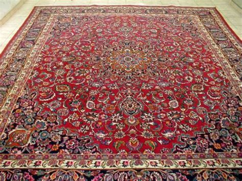 rugs 10x12 10x12 1940 s magnificent knotted signed antq wool mashadd p