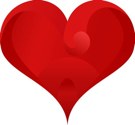 Clipart Stylish Red Heart | clipart stylish red heart