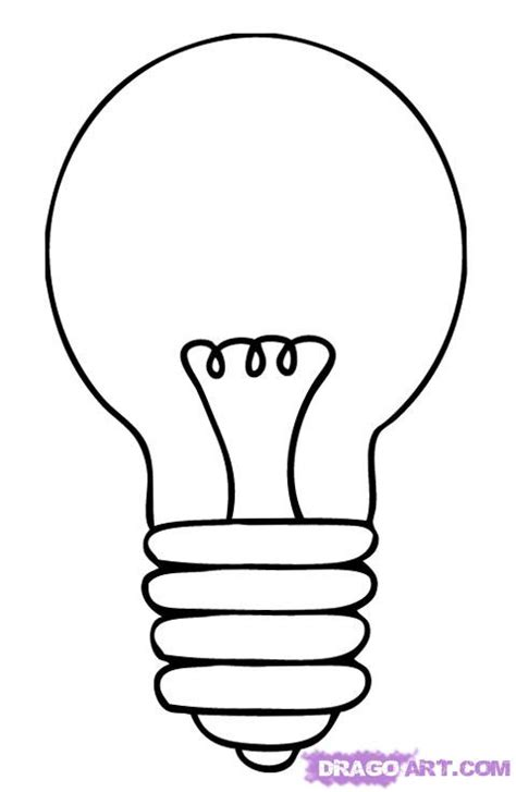 lights how to how to draw a bulb step by step stuff pop culture free