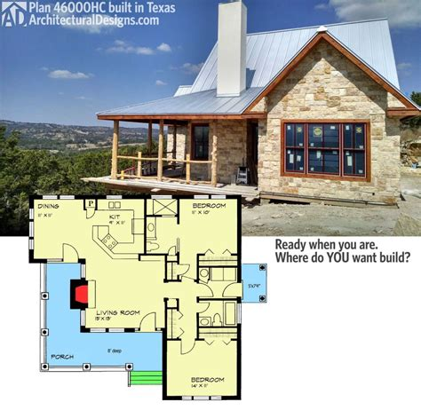 2 bedroom cottage house plans with plan hc hill country