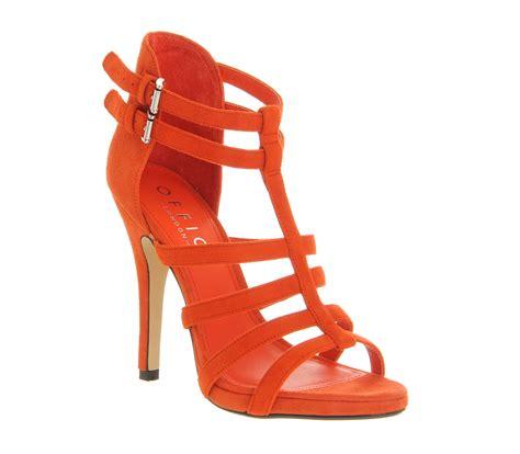 orange sandal heels womens office oppose sandal orange suede heels ebay