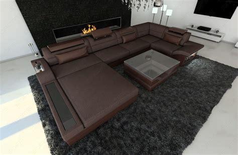 u shaped fabric sofa modern sectional fabric sofa mezzo u shaped with led