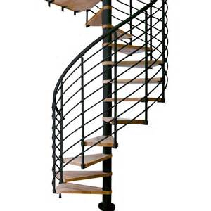 Dolle oslo 55 in x 11 5 ft black with wood treads spiral staircase kit