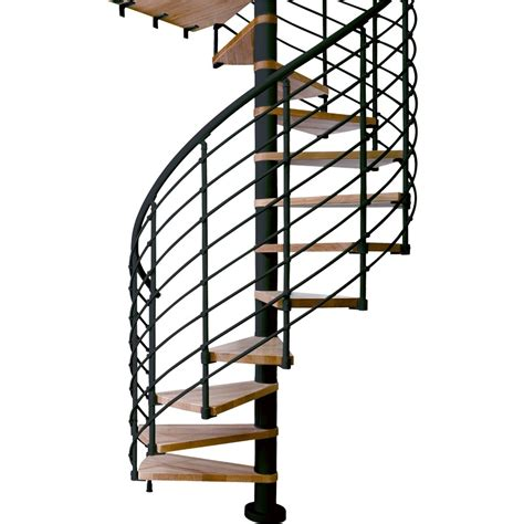 shop dolle 3 ft 11 in oslo black spiral staircase kit at lowes com