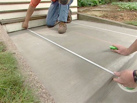 How To Lay A Concrete Slab For A Shed by How To Decorate Concrete With A Brick Pattern How Tos Diy